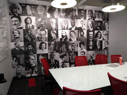 office wall graphics for a lunch room with inspiring people