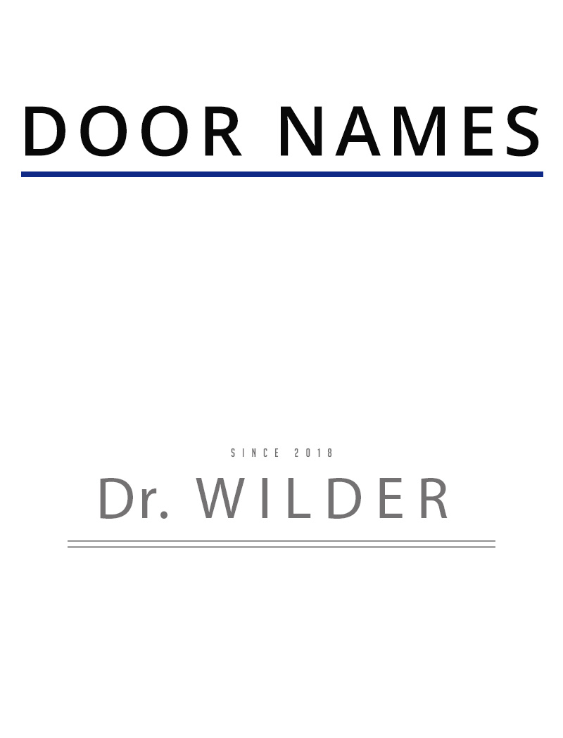 etched name for doors of a dentist or medical practice made out of vinyl