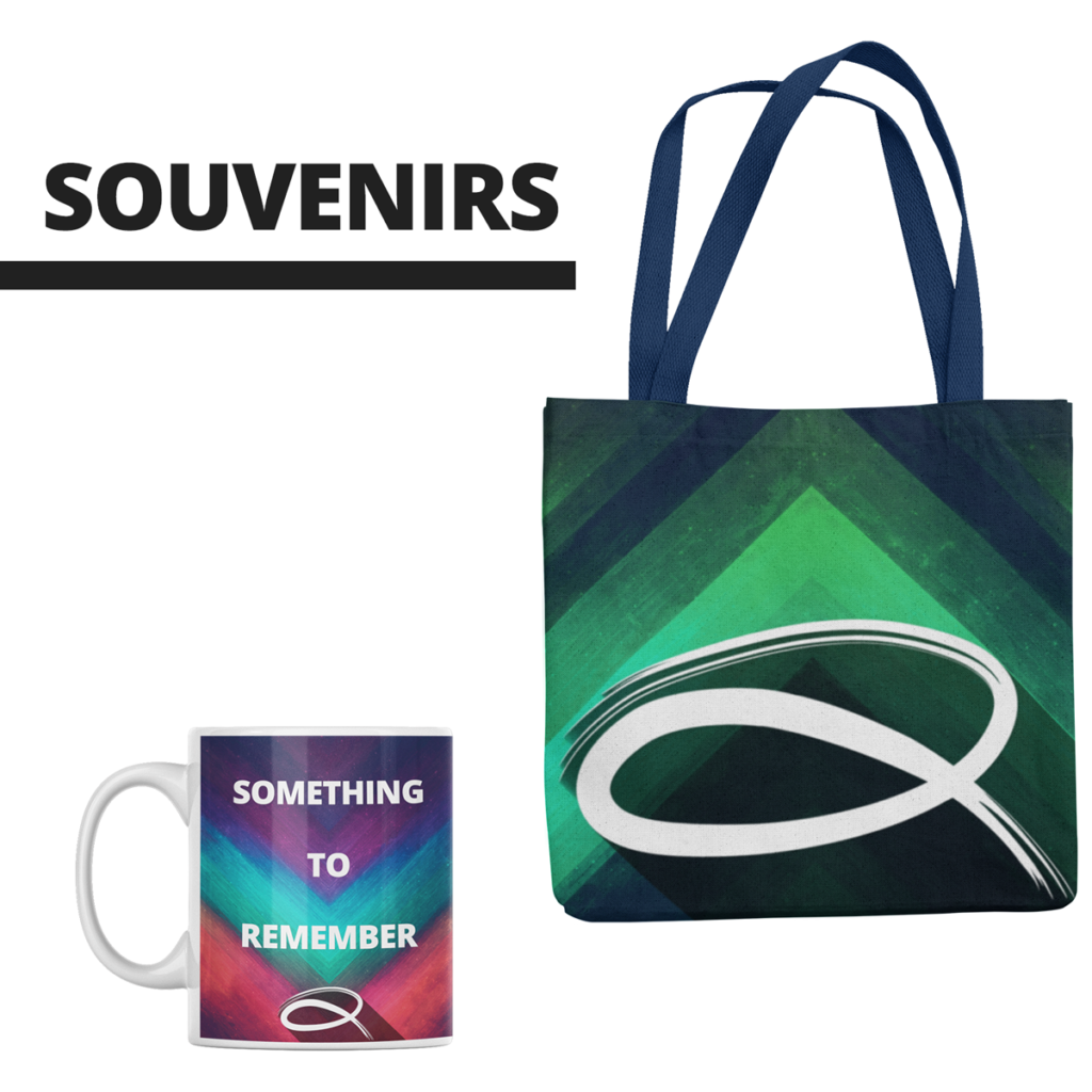 custom promotional items souvenirs cup and bag