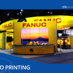 fanuc expo front view at trade show that quantum graphics helped to print and assisted with design of displays