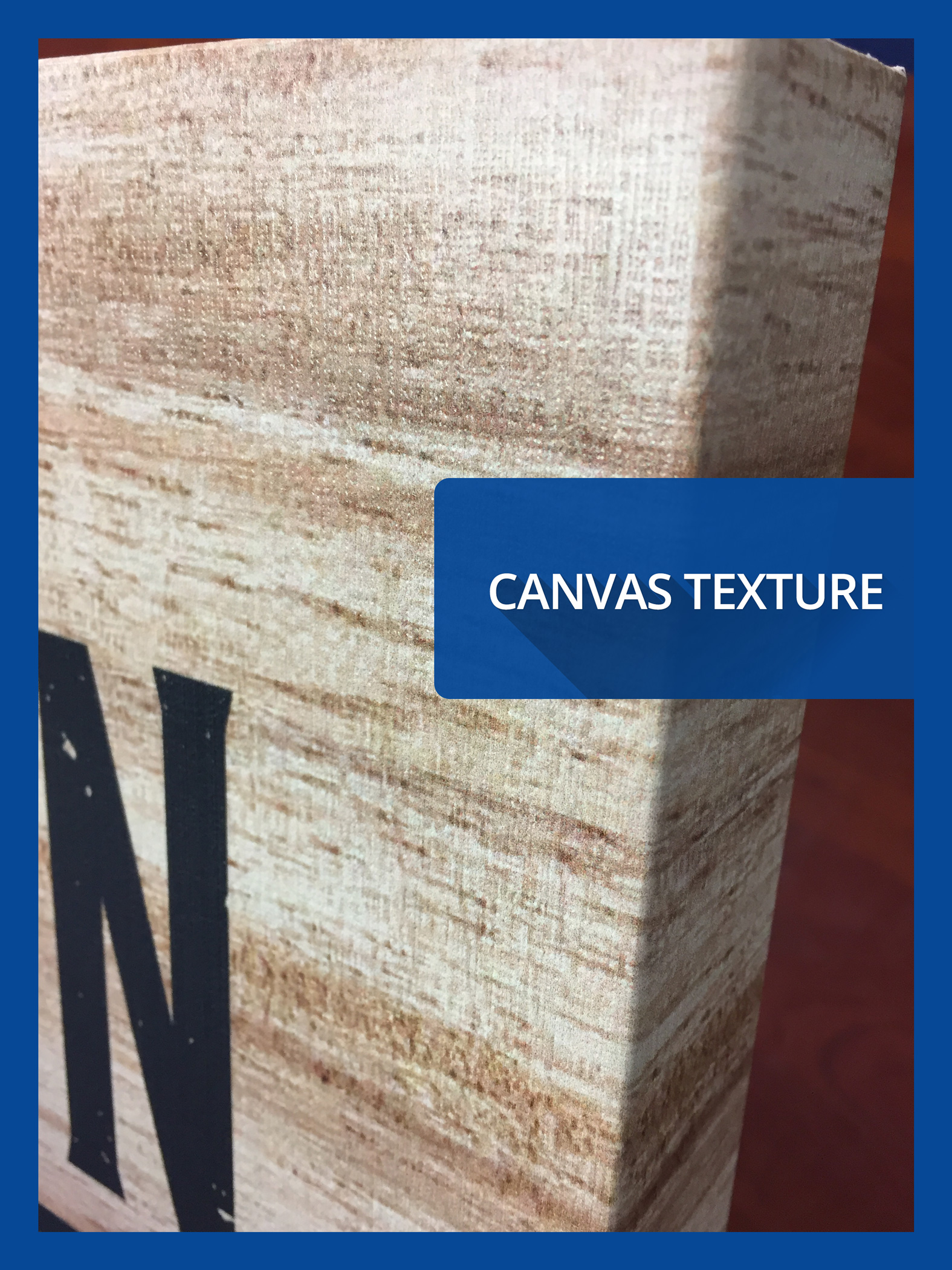a closeup view of the canvas texture